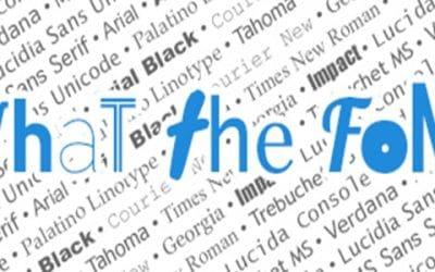 Les bonnes pratiques en matière de typographie